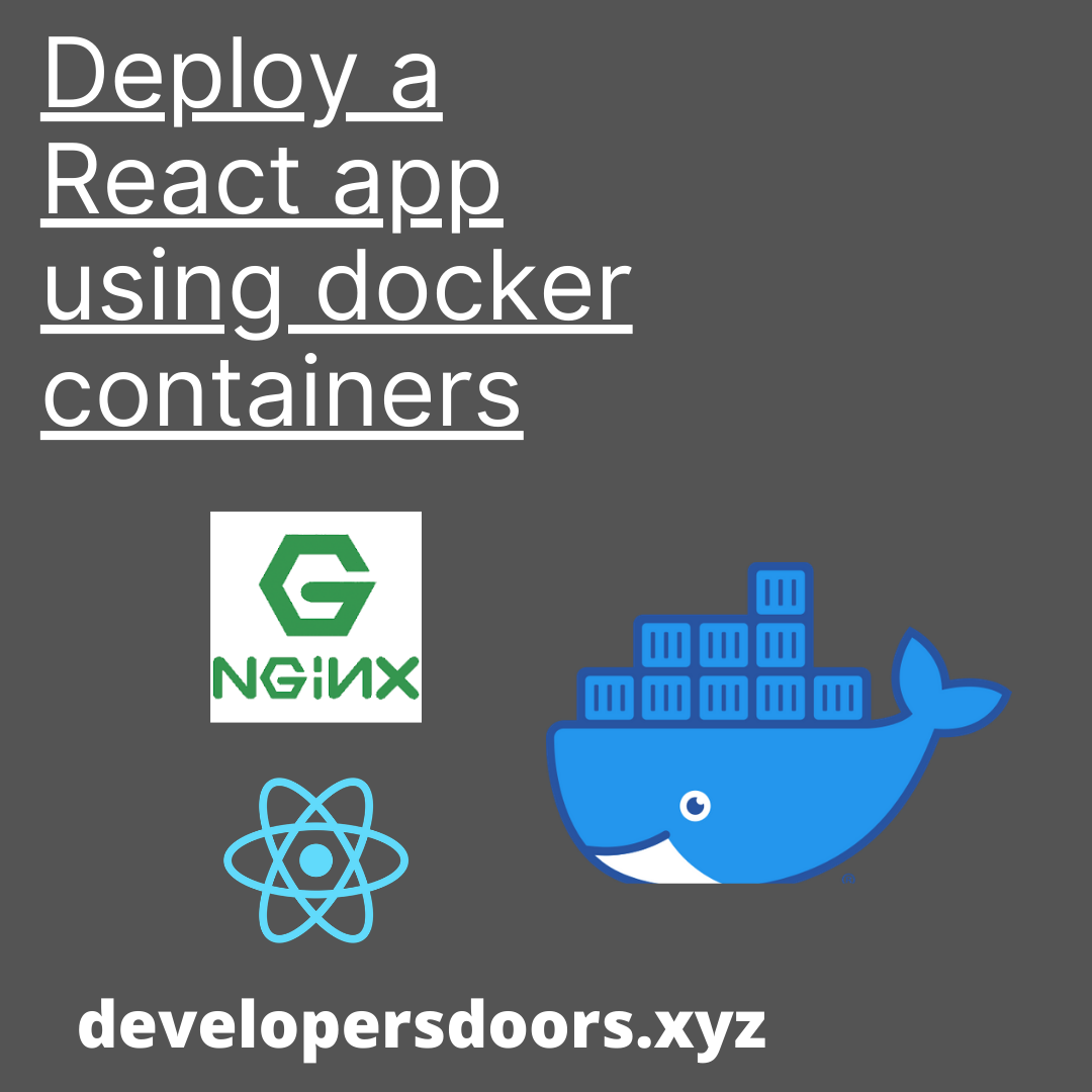 Deploy a React application using docker containers