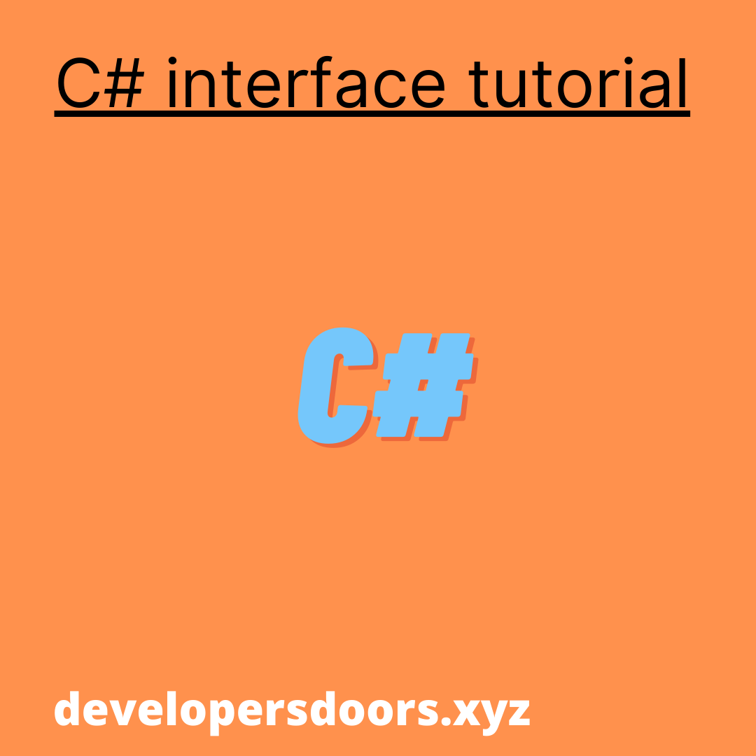 C# interface and multiple interfaces tutorial